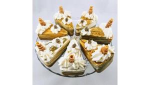 Maple Pecan Streusel Soap Cake Slice